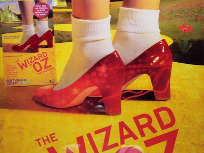 Don't you just love those red slippers?